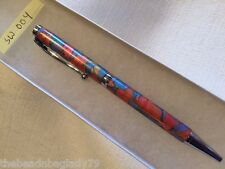 NEW USA Handcrafted Polymer Clay Pen MULTI COLOR SPARKLY MOSAIC Med Point SW004