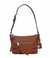 Michael Kors Abby Small Goat Leather Shoulder Bag (Walnut)