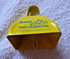 LOVELY VINTAGE YELLOW COWBELL CLOCHE DE VACHE AMGEN TOUR OF CALIFORNIA BICYCLE