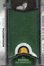 2014-15 Upper Deck Letterman Bill Russell Monumental Logos Tri-Colored Patch