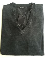 Paul Smith PS Gents V-Neck Merino Wool Pullover Jumper - Grey - XL RRP £135 New