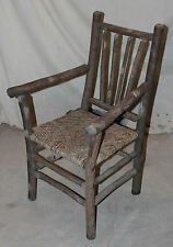Antique Old Hickory Arm Chair Primitive Folk Art