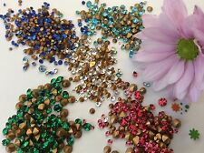 Vintage strass bijoux bijoux réparation broche Craft 5 Couleurs Pack de 300