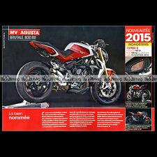MV AGUSTA BRUTALE 800 RR (Modèle 2015) - Fiche Moto MJ #512