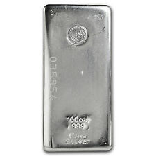 100 oz Perth Mint Silver Bar - Poured Silver Bar - SKU #82246