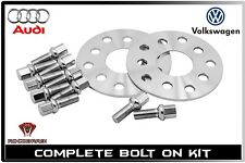 3mm Wheel Spacers Kit 5x100 / 5x112 + 10 Extended Bolts | 57.1mm Bore |