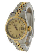 Rolex Datejust Ladies' Two Tone  Quick-Set Sapphire Ref 69173 26 mm