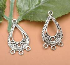 30pcs Tibetan silver charm earring Suitable for Connectors Jewelry Findings