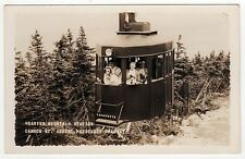 CANNON MOUNTAIN AERIAL TRAMWAY RPPC Real Photo Postcard TRAM Passenger MT NH