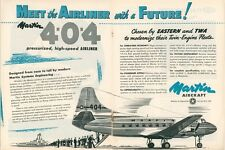 1950 Martin Aircraft Ad New 4-0-4 Airliner Airplane Aviation Vintage