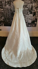 Designer Sequinned Wedding gown with Train (Ivory) Wedding, Pageant etc