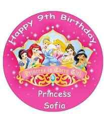 Topper De Papel De Oblea De Disney Princess Personalizado Para Pastel Grande Varios Tamaños 7.5
