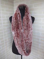 Red white tip circle rex rabbit furf scarf/ fur collar warmful & fastionable