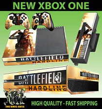 XBOX ONE CONSOLE STICKER BATTLEFIELD HARDLINE 01 SHOTGUN STYLE SKIN & 2 PAD SKIN