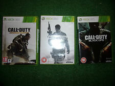 3 x COMPLETE XBOX 360 CALL OF DUTY GAMES ADVANCED & MODERN MW3 WARFARE BLACK OPS