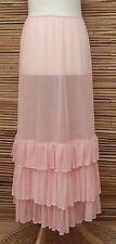 """LAGENLOOK MAXI PETTICOAT UNDERSKIRT/DRESS**PINK**MADE IN ITALY WAIST UP TO 48"""""""
