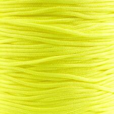 1.5mm Shamballa/Chinese Knotting Nylon Cord - Neon Yellow - 5m