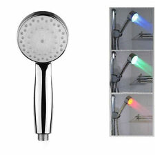 7 Colour Changing LED Chrome Shower Head Bathroom SL336