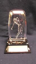 female golf acrylic fossil award trophy decorative weighted base