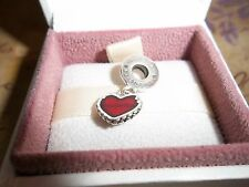 Genuine Authentic Pandora Silver Daughter Red Heart Charm 790950EN27