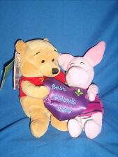Winnie the Pooh and Piglet Best Friends Plush Disney 1999 -  Rare - (K2-11)