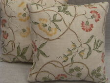 """LYNDON BY JANE CHURCHILL 1 PAIR OF 18"""" CUSHION COVERS - DOUBLE SIDED & PIPED!"""