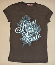 "JUICY COUTURE SHORT SLEEVE GRAY T-SHIRT  ""JUICY FAIRY TALE""      S       K#8207"