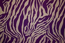 Purple White Animal ITY Print #102 Stretch Polyester Lycra Spandex Fabric BTY