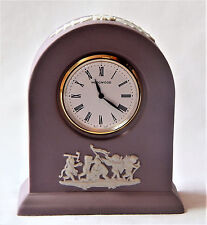 Wedgwood Clock Lilac Pink White Jasper Small Domed Mantle Desk Made in England