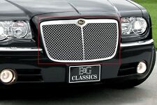 2005-2010 Chrysler 300/300C Heavy Mesh Grille w Center Bar - E&G Classics Chrome