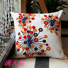 Vintage Cotton Couch Sofa Cushion Cover Throw Pillow - Flower Star 45 X 45 cm