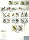 Aitutaki 1981-2 Birds set of 34 (set to $2) on 5 official unaddressed FDC's.