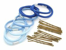 Zest Hair Bands and Hair Grips Accessories Set Blue & Sky Blue