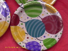 Shimmering Balloons paper plates wholesale lots of 12