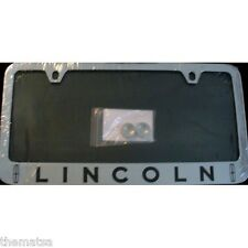 LINCOLN CAR SOLID BRASS THIN TOP LICENSE PLATE FRAME MADE IN USA