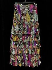 Tunique Fabulous Abstract Multicolor Ruffled Tiered Skirt NWOT Size XL MSRP $179