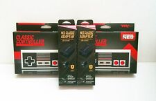 2 NES Controller to NES Classic Mini  Controller Adapter and 2 NES controllers
