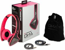 Monster DNA On-Ear Headphones High Quality Audio Noise Isolation InLine Mic-Pink