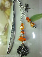 Beaded Bookmark Dragonfly Flowers Animals Handmade Silver Designs Gift Idea