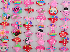10pcs Style Wholesale Lots Jewelry Mixed Children Polymer Clay Rings Free Ship