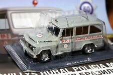 1:43 Willys Rural Military Police Brazil Police Cars of the World + Magazine #60