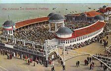 POSTCARD   SUSSEX    HASTINGS   Pier  Extension  and  Bandstand