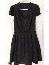 ALL SAINTS spitalfield Women's Little Black Prairie Dress UK 14 / US 10