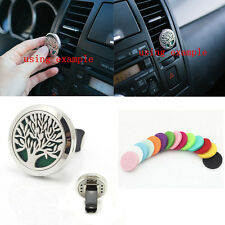 New Stainless Steel Car Locket Perfume Clip Air Freshener Essential Oil Diffuser