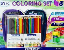 STAEDTLER 51 pc COLORING SET colored pencils school supplies NEW