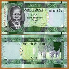 South Sudan, 1 Pound, 2011, Pick 5, UNC