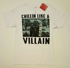 Star Wars Men's Shirt Chillin Like A Villain Short Sleeve White Large NWT