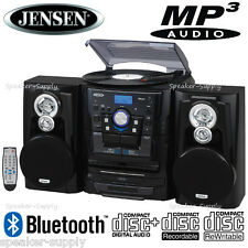 Bluetooth 3 Speed Turntable Record CD Changer MP3 CDRW Stereo System JMC-1250