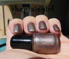 HOLOGRAPHIC Linear Rainbow Spectraflair Dark Taupe Nail Polish Lacquer 15mL