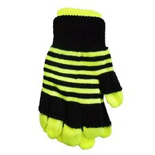 3 Pairs Neon Striped Stripe Magic Gloves Magic Gloves Pink Yellow Green 2 in 1